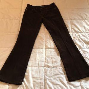 Dark brown corduroy Lauren Jeans size 2P